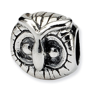 Sterling Silver Reflections Owl Head Bead