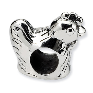 Sterling Silver Reflections Chicken Bead
