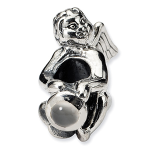 Sterling Silver Reflections June CZ Angel Bead