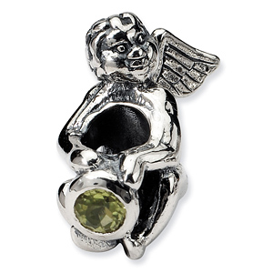 Sterling Silver Reflections August CZ Angel Bead