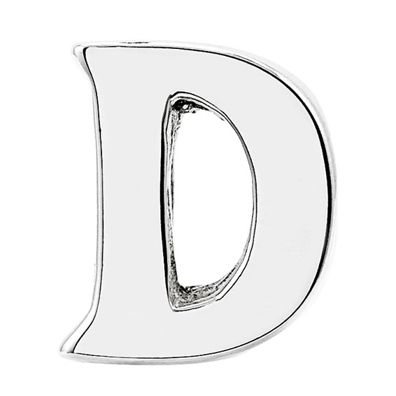 Sterling Silver Reflections Letter D Bead