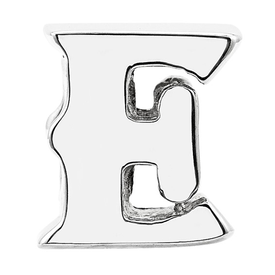 Sterling Silver Reflections Letter E Bead