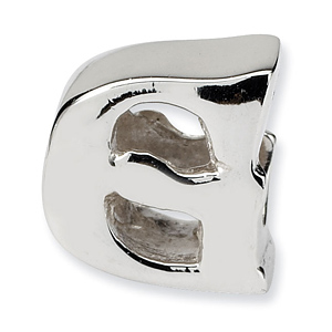 Sterling Silver Reflections Letter G Bead