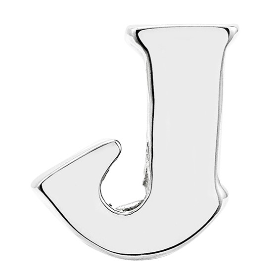 Sterling Silver Reflections Letter J Bead