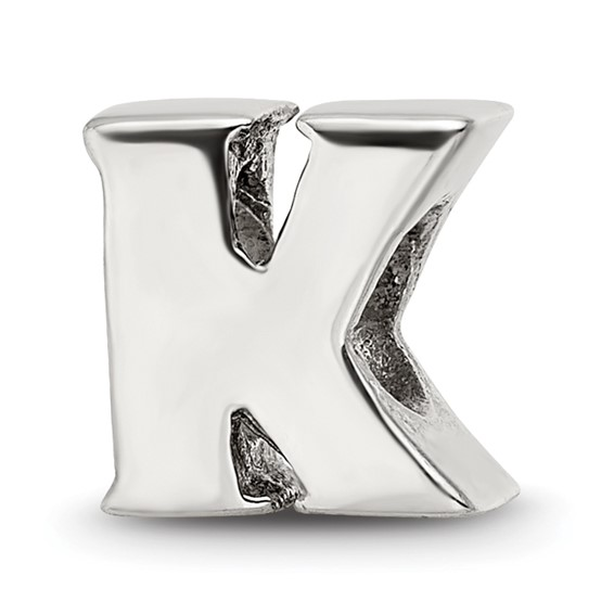 Sterling Silver Reflections Letter K Bead
