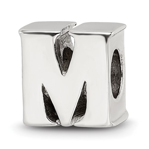 Sterling Silver Reflections Letter M Bead
