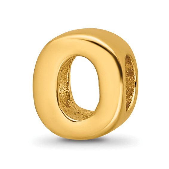 Sterling Silver Gold-plated Reflections Letter O Bead