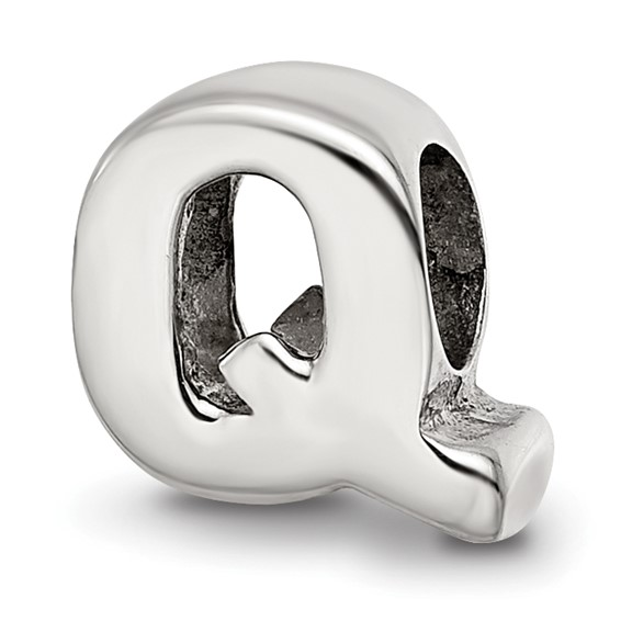 Sterling Silver Reflections Letter Q Bead