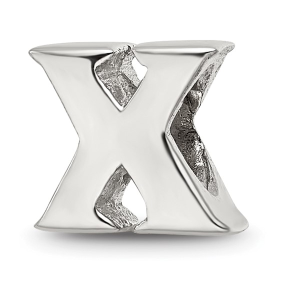 Sterling Silver Reflections Letter X Bead