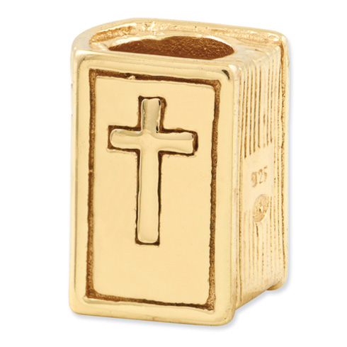 Sterling Silver Gold-plated Reflections Bible Bead