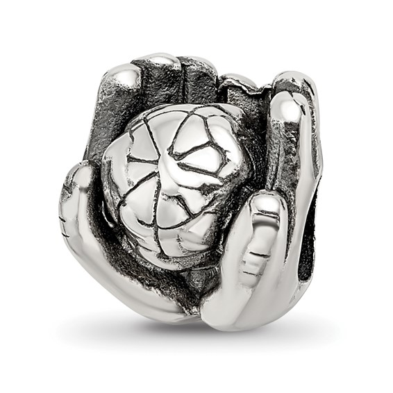 Sterling Silver Reflections World in Hands Bead