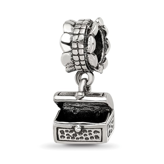 Sterling Silver Reflections Treasure Chest Dangle Bead