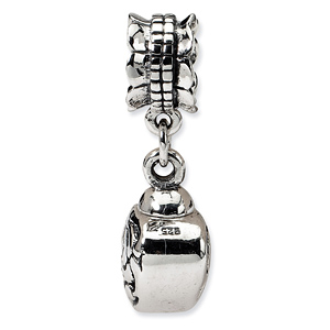 Sterling Silver Reflections Heart Ash Dangle Bead