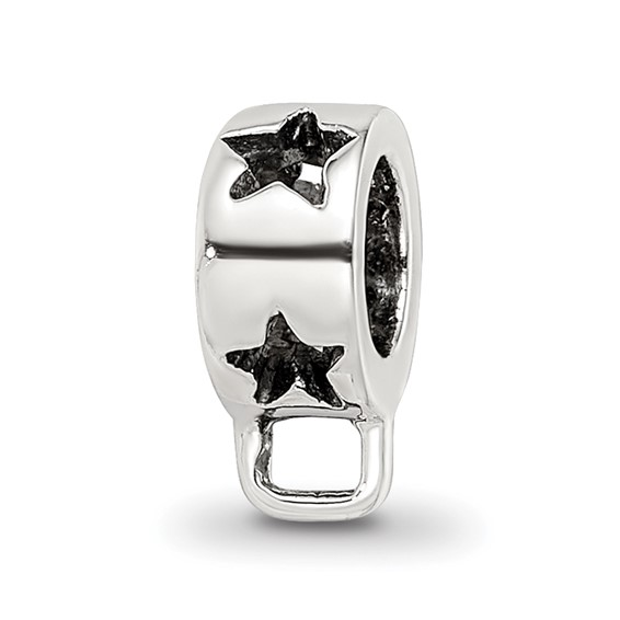 Sterling Silver Reflections Star with Loop for Click-on Bead
