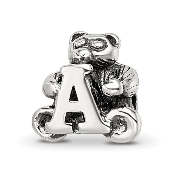 Sterling Silver Reflections Kids Letter A Bead