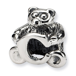 Sterling Silver Reflections Kids Letter C Bead