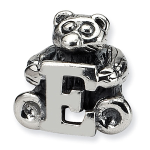 Sterling Silver Reflections Kids Letter E Bead