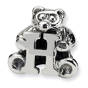 Sterling Silver Reflections Kids Letter H Bead