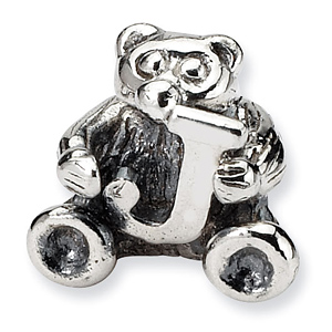 Sterling Silver Reflections Kids Letter J Bead