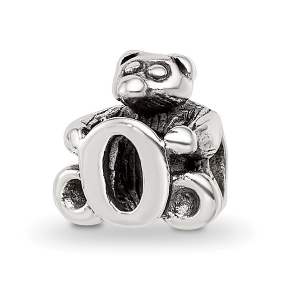 Sterling Silver Reflections Kids Letter O Bead