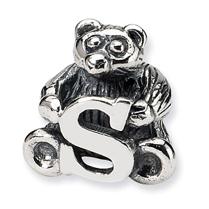 Sterling Silver Reflections Kids Letter S Bead