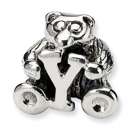 Sterling Silver Reflections Kids Letter Y Bead