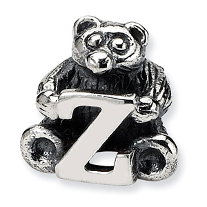 Sterling Silver Reflections Kids Letter Z Bead