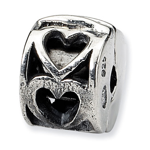Sterling Silver Reflections Kids Heart Clip Bead