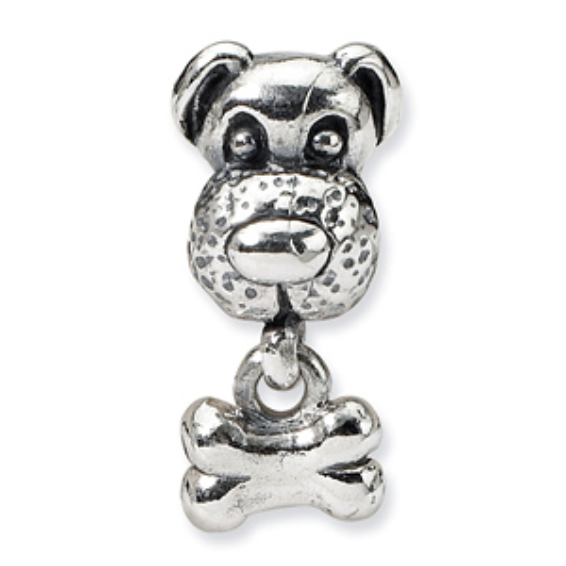 Sterling Silver Reflections Kids Dog & Bone Bead