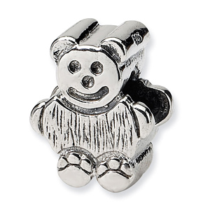Sterling Silver Reflections Kids Bear Bead