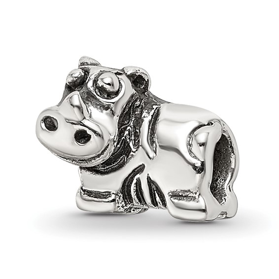 Sterling Silver Reflections Kids Hippo Bead