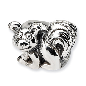 Sterling Silver Reflections Kids Raccoon Bead