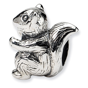 Sterling Silver Reflections Kids Squirrel Bead