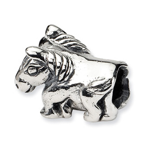 Sterling Silver Reflections Kids Horse Bead