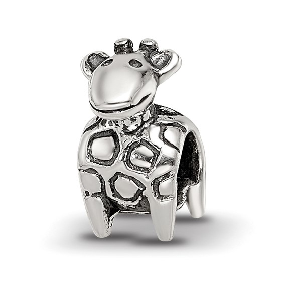 Sterling Silver Reflections Kids Giraffe Bead