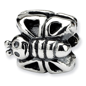 Sterling Silver Reflections Kids Butterfly Bead