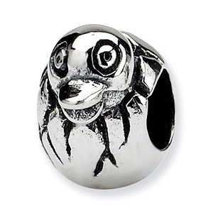 Sterling Silver Reflections Kids Bird Head in Egg Bead