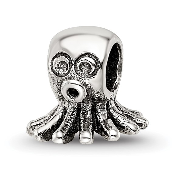 Sterling Silver Reflections Kids Octopus Bead