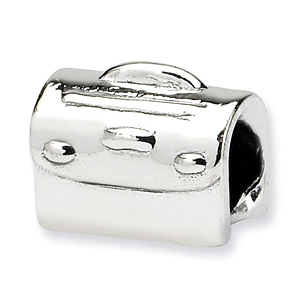 Sterling Silver Reflections Kids Floral Satchel Bead