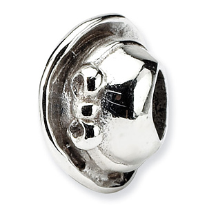 Sterling Silver Reflections Kids Hat Bead