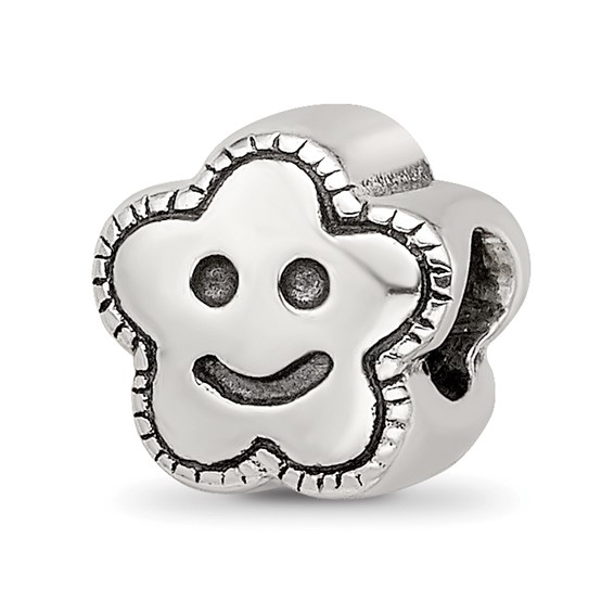Sterling Silver Reflections Kids Smiley Flower Bead