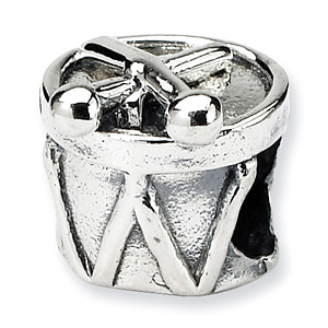 Sterling Silver Reflections Kids Drum Bead