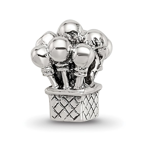 Sterling Silver Reflections Kids Balloons Bead