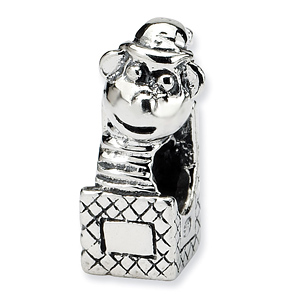 Sterling Silver Reflections Kids Jack in the Box Bead