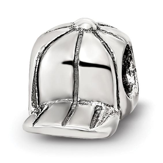 Sterling Silver Reflections Kids Baseball Cap Bead