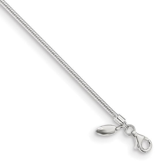 6.25in Sterling Silver Kids Lobster Polished Bracelet