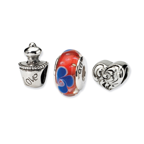 Sterling Silver Reflections Love Potion Boxed Bead Set