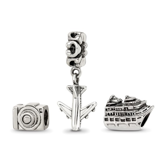 Sterling Silver Reflections Travel Bug Boxed Bead Set