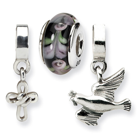 Sterling Silver Reflections Holy Spirit Boxed Bead Set