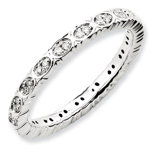 Sterling Silver 1/6 ct Diamond Ring